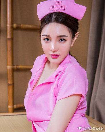 头条女神唐蕊红衣护士视频