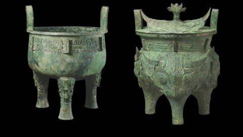 牛头青铜罐