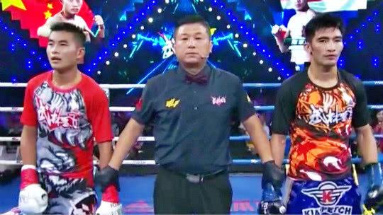 环球拳王争霸赛 中国选手刘亚宁将胡亚非一脚踢飞