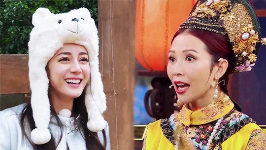 憋笑挑战第四弹→热巴被长颈鹿逼出东北话,蔡少芬学东北话舌头打结太