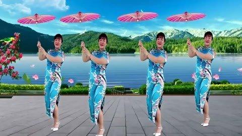 旗袍广场舞伞舞古典
