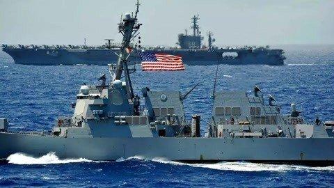 大量美军云集波斯湾