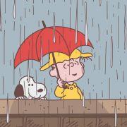 西城漏雨的街