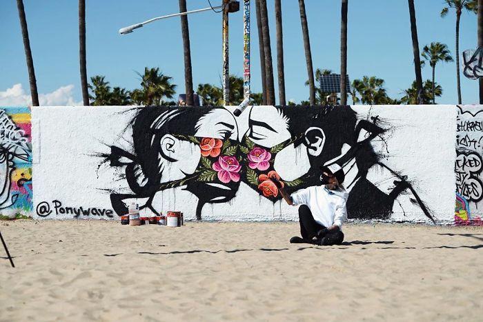 全球新冠肺炎疫情下世界各地的街头涂鸦艺术插图(3)