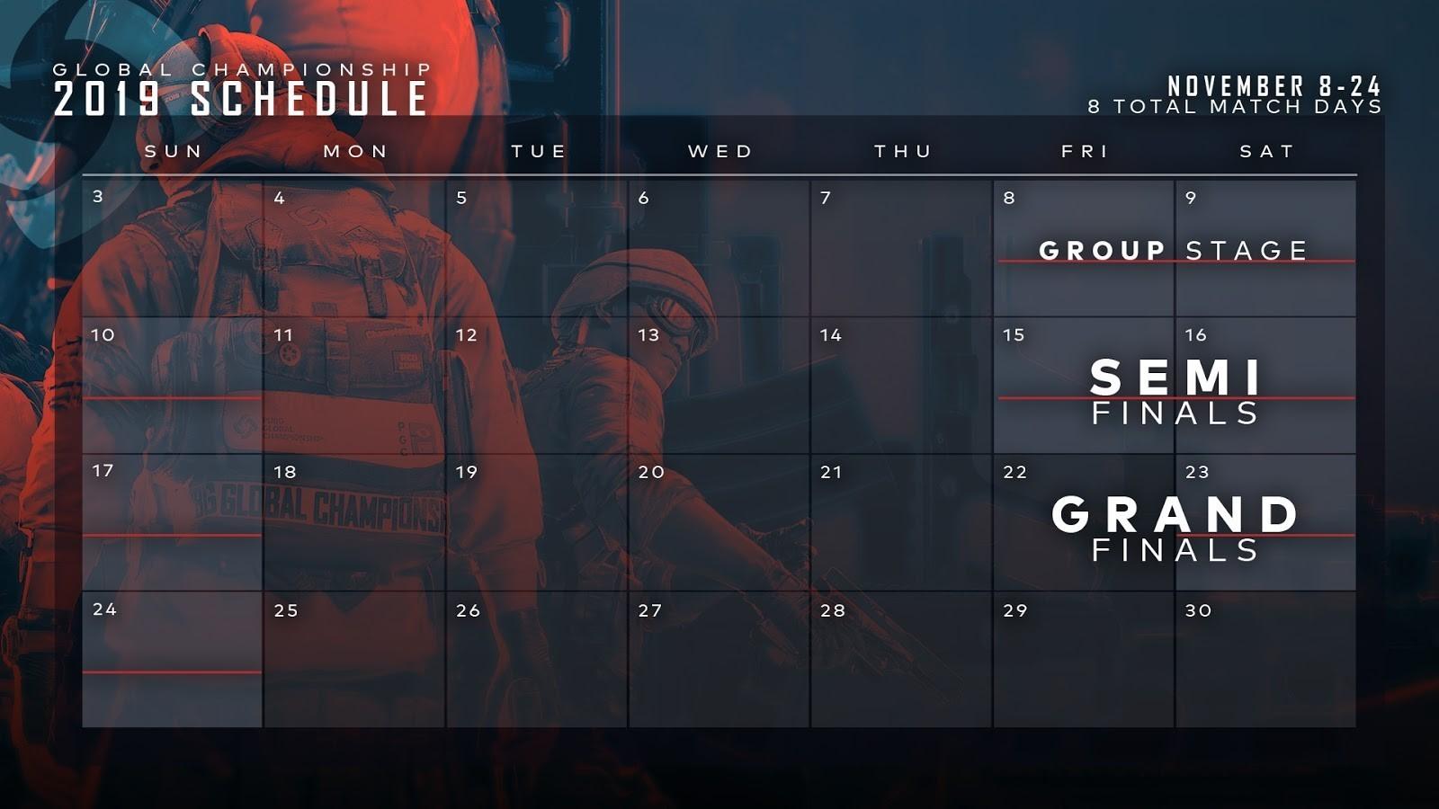 《绝地求生》2019世界冠军赛11月8日开战,官方公开详细赛程与专属纪念造型插图2