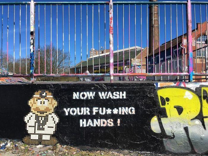全球新冠肺炎疫情下世界各地的街头涂鸦艺术插图(10)