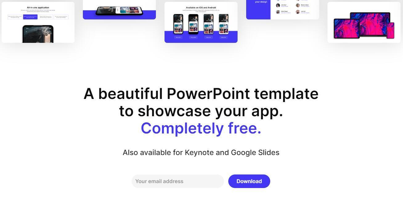 『 Selfone 』免费PPT模板,适合APP或者新媒体展示!插图