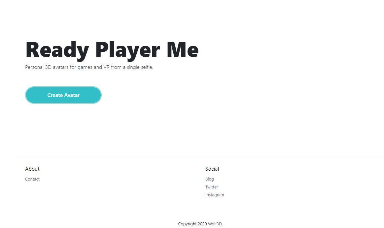 【趣味网站】Ready Player Me— 制作个人专属3D头像插图(1)