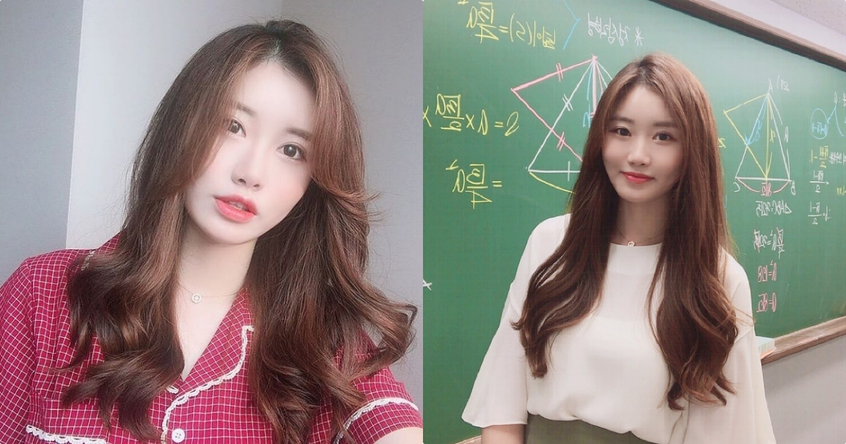 韩国气质数学老师Ssong颜值让人恋爱