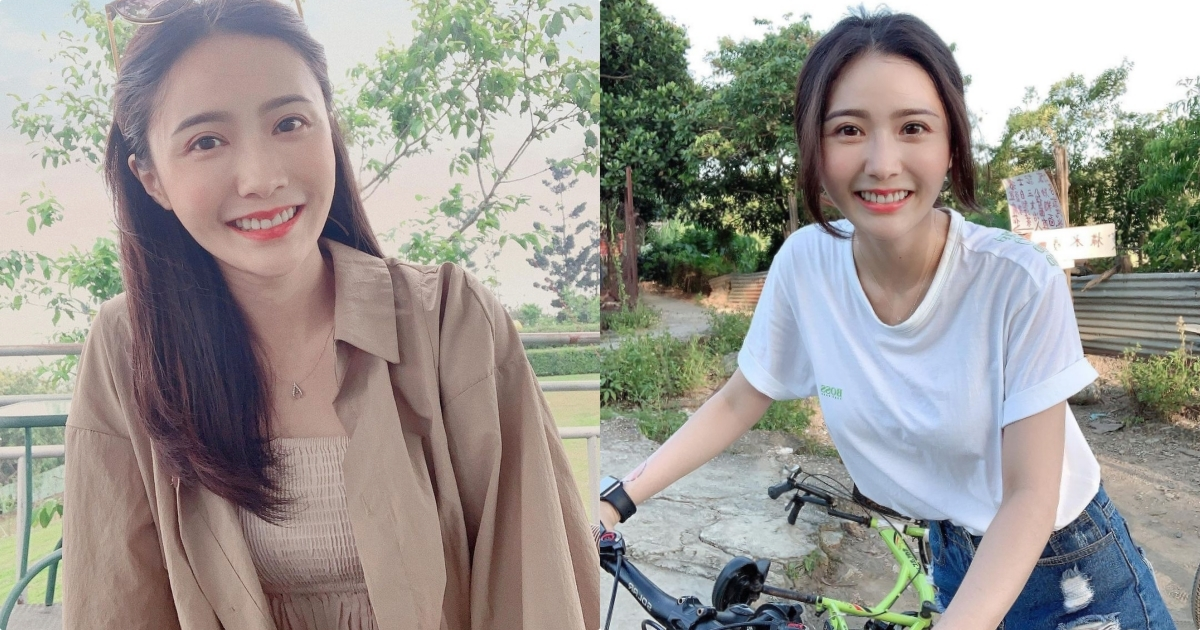 动心了!骑单车遇到超甜正妹「张语婕」,T恤下的「饱满曲线」超凶!
