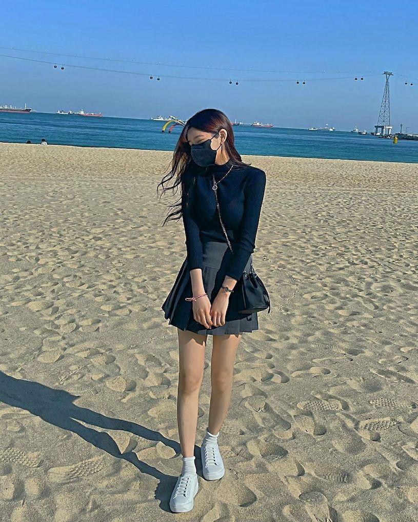 IG高校美女「童颜」好极品,「放学后的穿搭」让人恋爱. 养眼图片 第13张