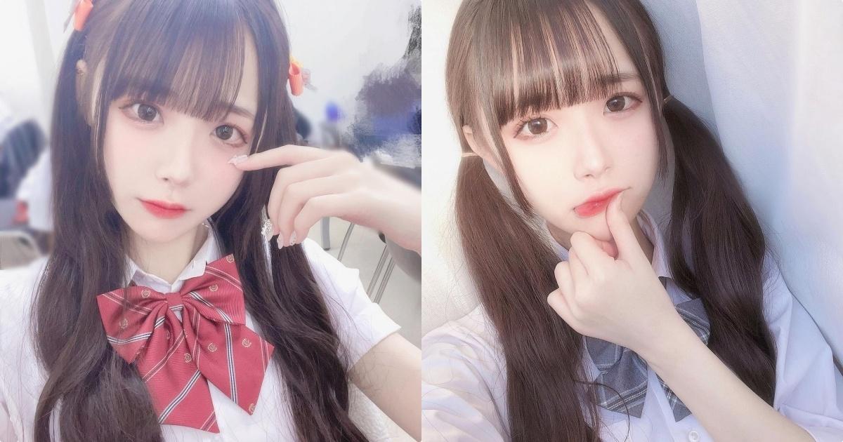 18岁偶像团体「灰姑娘宣言」的成员ぬう,制服造型好梦幻