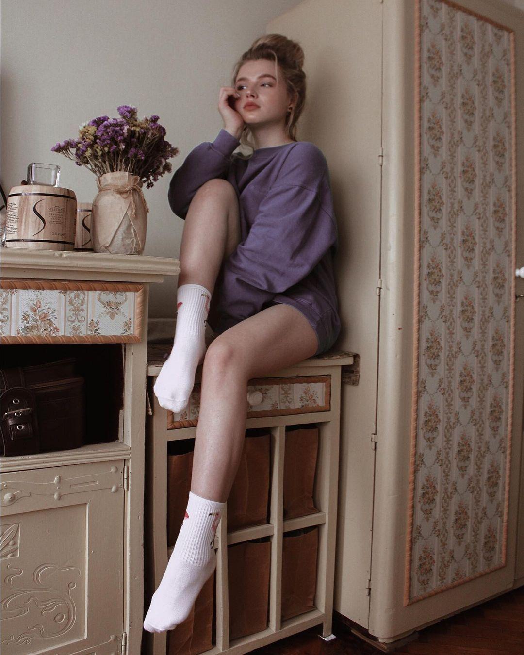 乌克兰妹总是不让人失望 时尚穿搭配高级颜... 个头娇小爆发名模气场 养眼图片 第10张