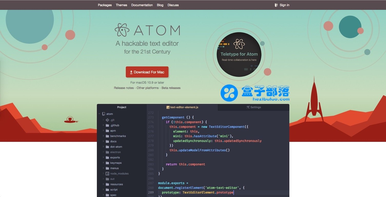 Atom v1.34.0 一个跨平台开源高效免费的文本代码编辑器