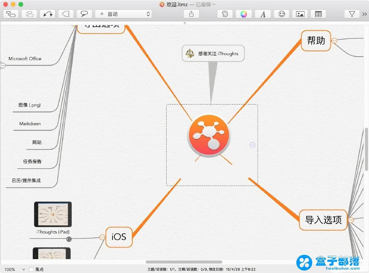 iThoughtsX 5.12 一款 Mac 上非常好用的思维导图工具