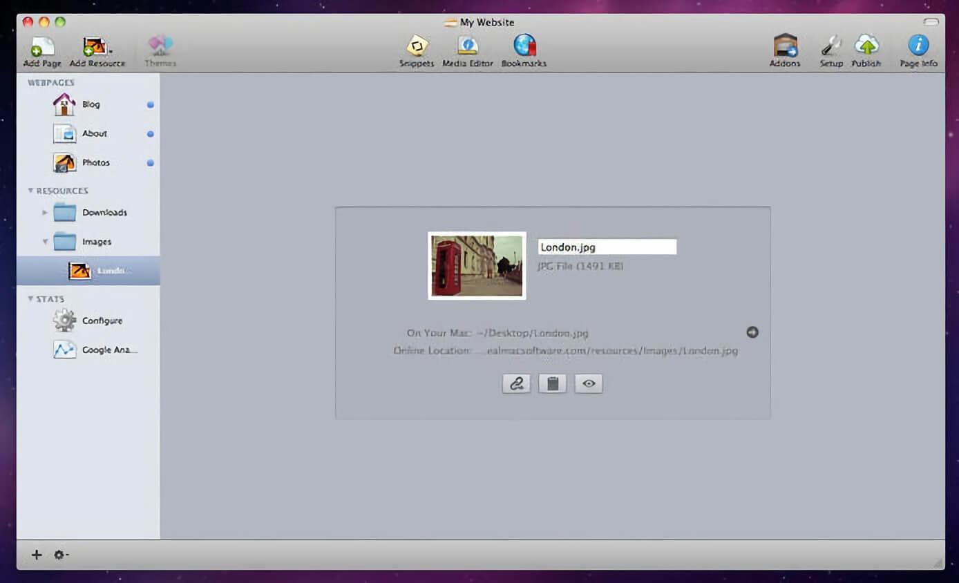 RapidWeaver 8.1 一款 Mac 平台上的超便捷网页设计程序