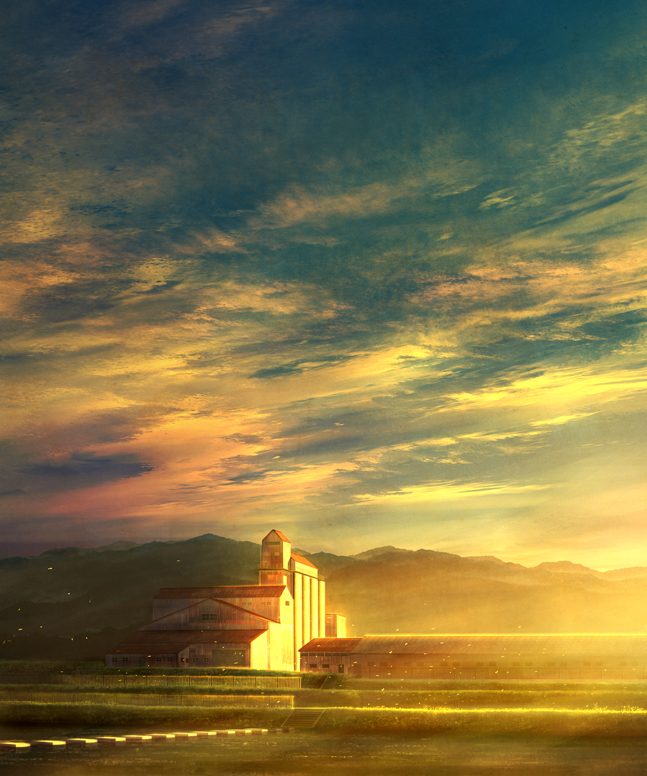 【P站画师】美丽的夕阳与星空!日本画师mks的插画作品- ACG17.COM