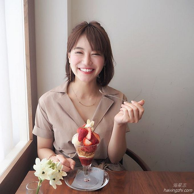 笑容太治愈,日本OL美女石井里奈满满正能量_11