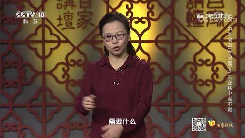 《百家讲坛》 20200413 中华成语(学习篇) 5 乐在其中浑不觉