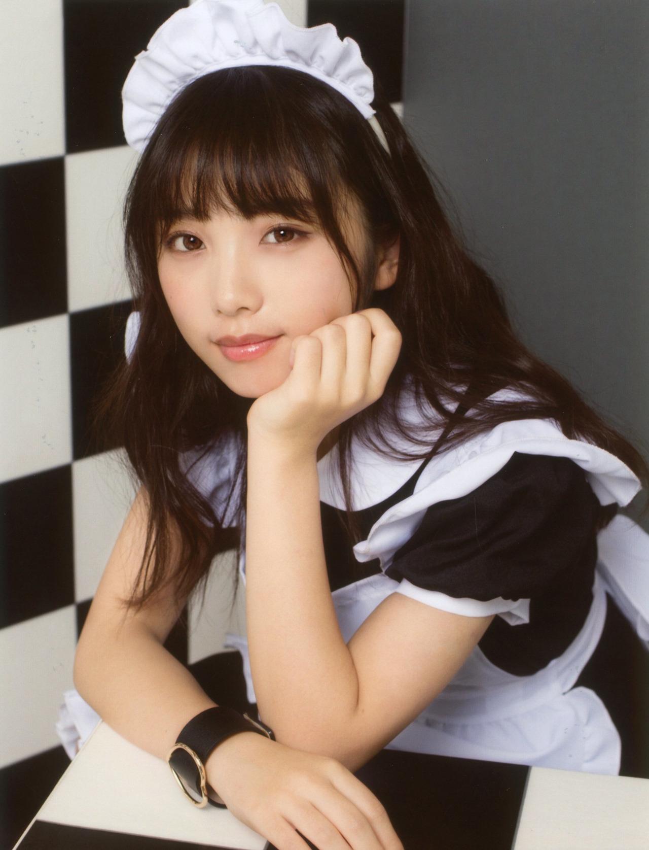 00年生日本小姐姐「与田祐希」女仆装 美呆了 第2张