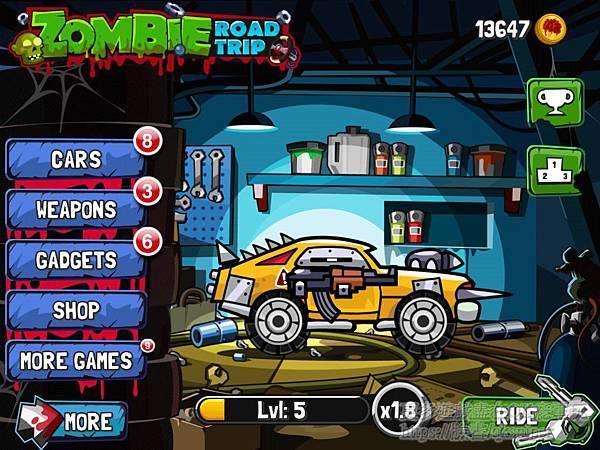 游戏《Zombie Road Trip》让你闲暇之时可以轻松小品僵尸赛车 (1)