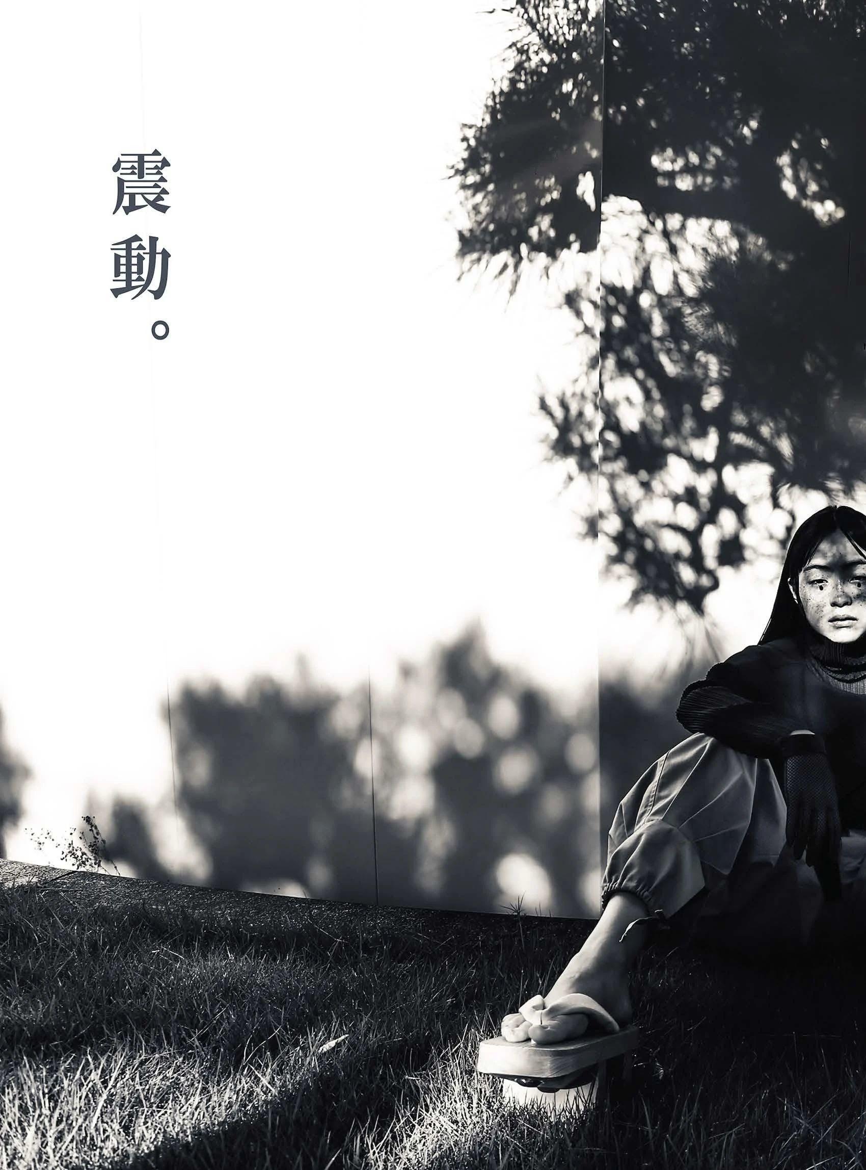 满脸雀斑却依旧很美的混血模特世理奈写真作品 (28)