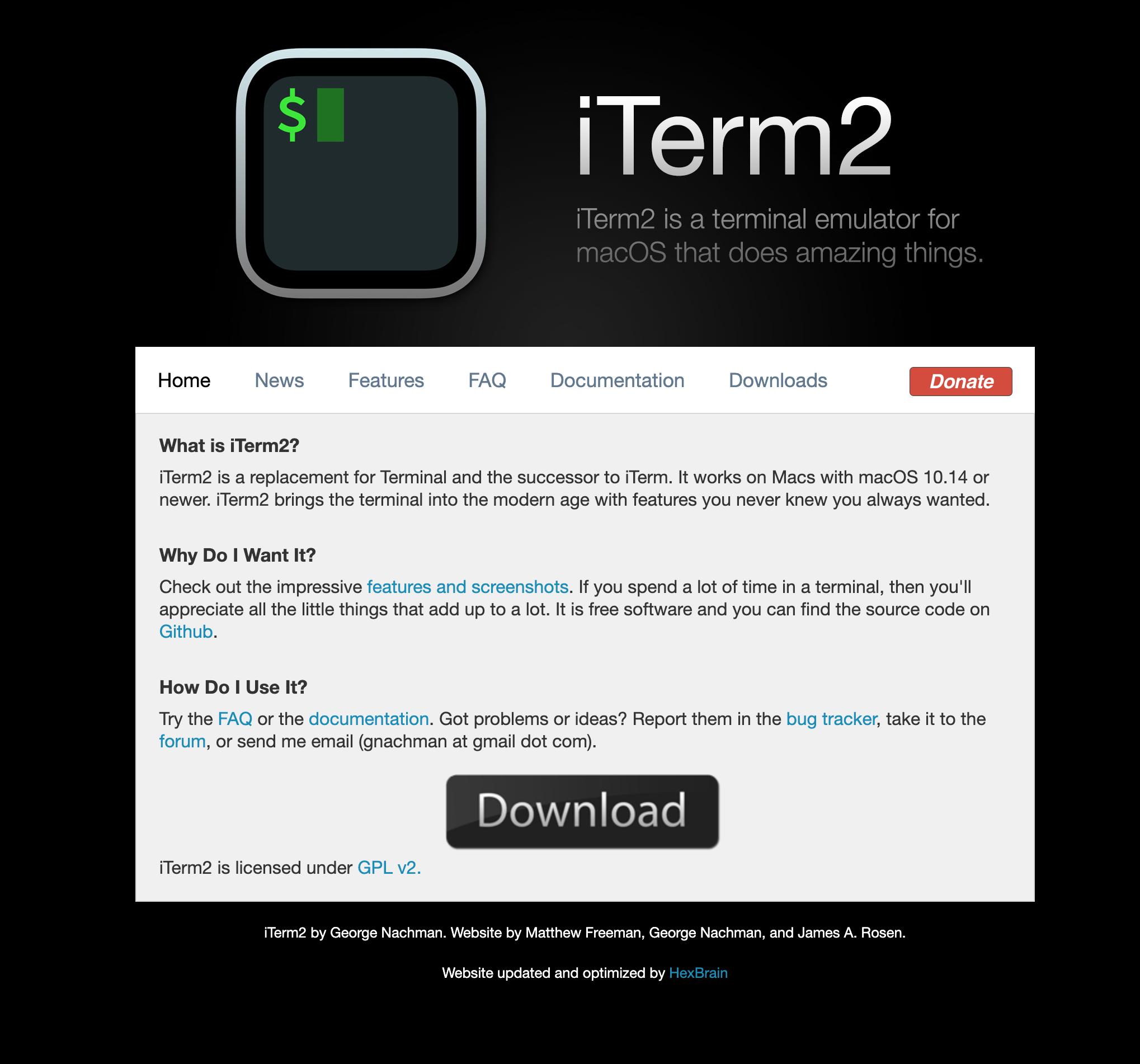 iTerm2 官网
