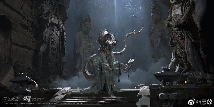 黑神话悟空的一些人物和建筑原画设计