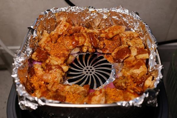空气炸锅熏陶下的五花肉